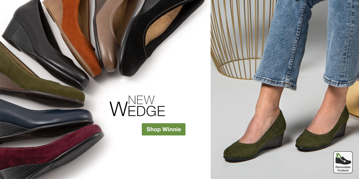 New Wedge. Shop Winnie.