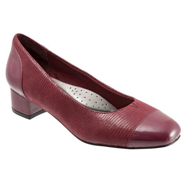 Danelle Dark Red Patent Suede