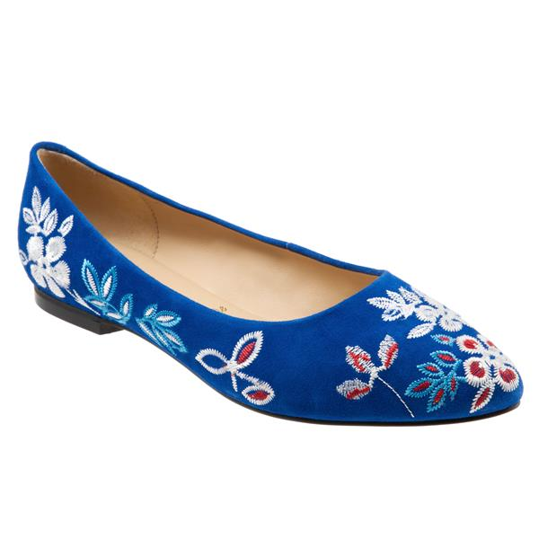 Estee Embroidery Blue