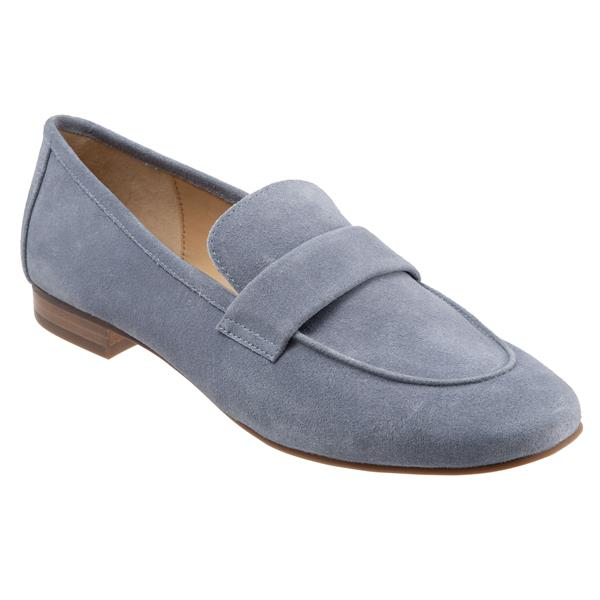 Gemma Light Blue Suede