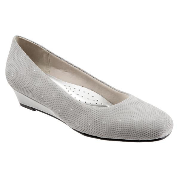 Lauren Light Grey 3D Patent Suede