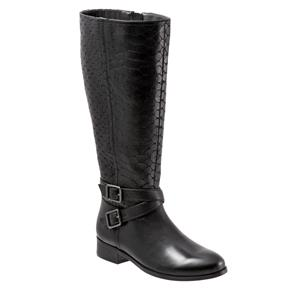 Liberty Wide Calf Black Embossed