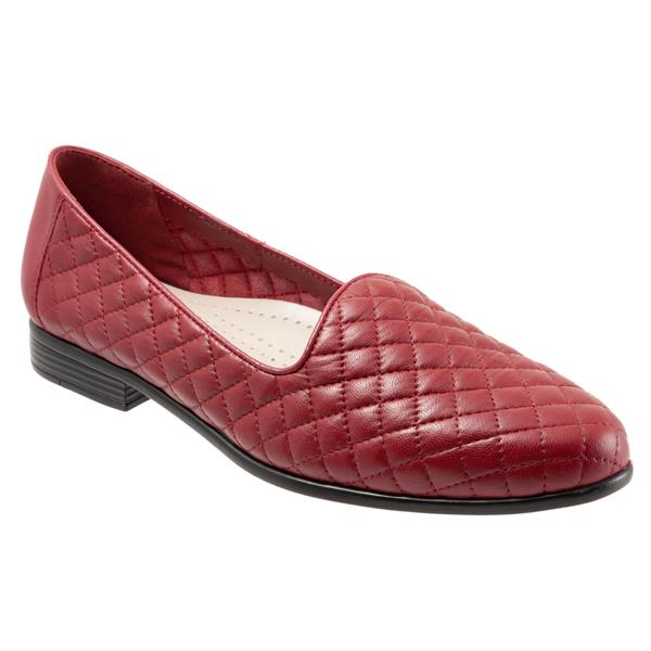 Liz Dark Red Quilted Embossed