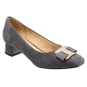 Louise Dark Grey Suede