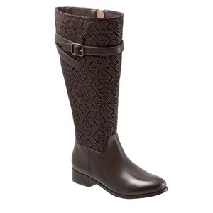 Lyra Wide Calf Dark Brown Snake
